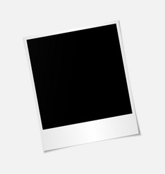 blank photo frame with adhesive tape isolated on t vector image