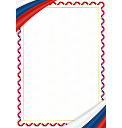 Border made with czech republic national colors vector