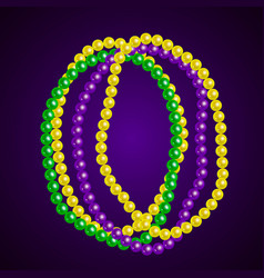 bright realistic beads on a dark background vector image