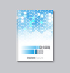 business corporate flyer template with hexagonal vector image