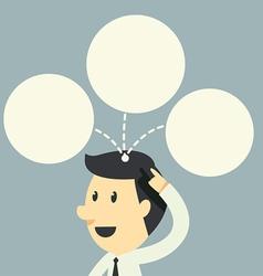 Businessman have idea on head vector