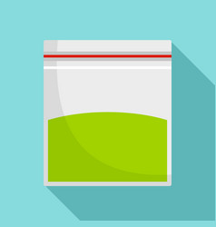 Cannabis plastic pack icon flat style vector