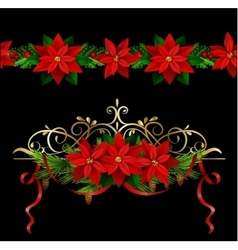Christmas set elements for your designs vector image