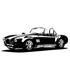 Classic sport silhouette car ac shelcobra vector