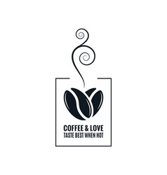 coffee love concept coffee beans design on white vector image