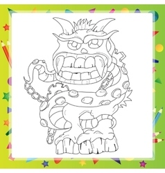 Coloring book - Monster vector image