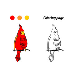 coloring page or book with bird vector image