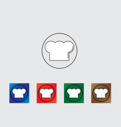 Cook hat icon vector