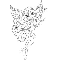 Cute fairy with wings vector