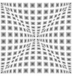 Design monochrome warped checked pattern vector