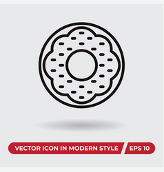donut icon in modern style for web site and vector image