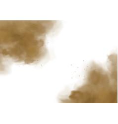 dust sand cloud mud splashes 3d vector image