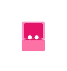Earrings in box simple icon vector