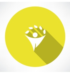 Eco men icons vector