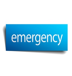 emergency blue paper sign on white background vector image