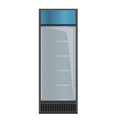 Empty drink fridge icon cartoon style vector