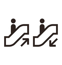 Escalator icons vector image