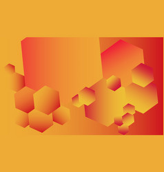 fiery abstract background full of various hexagons vector image