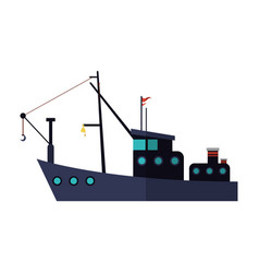 fishing boat icon vector image