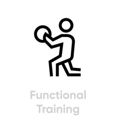 functional training activity icon vector image