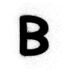 Graffiti russian cyrillic v font sprayed in black vector