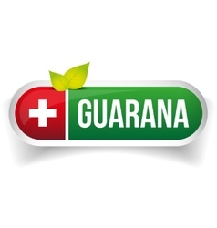 Guarana label green vector
