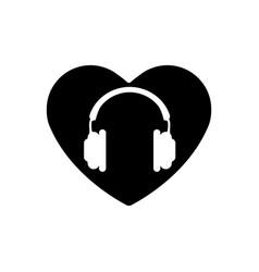 heart black icon love symbol orange vector image