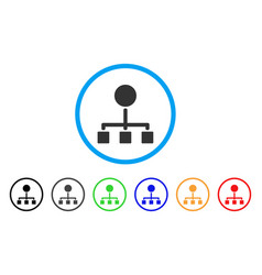 Hierarchy rounded icon vector