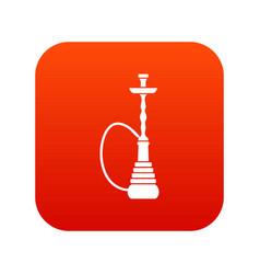 hookah icon digital red vector image