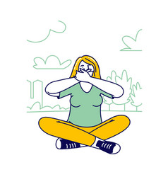 Human emotional balance or body language concept vector