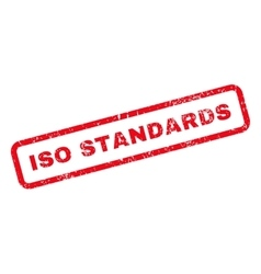 ISO Standards Text Rubber Stamp vector