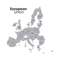 Isolated european union map design vector