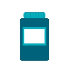 Isolated medicine jar design vector