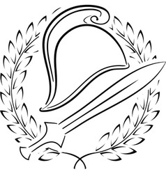 macedonian phrygian helmet with laurel wreath vector image