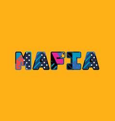 Mafia concept word art vector