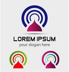 Media communication advertisement logo icon eleme vector