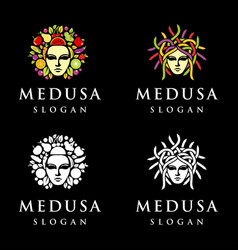 medusa logo vector image