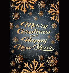 merry christmas happy new year concept greeting vector image