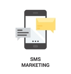 Mobile marketing icon vector