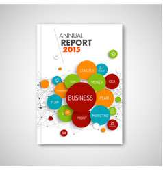 Modern abstract brochure report business template vector