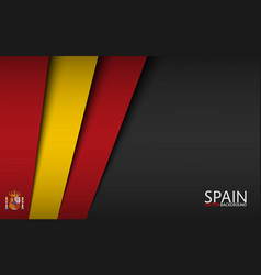 Modern background with spanish colors vector