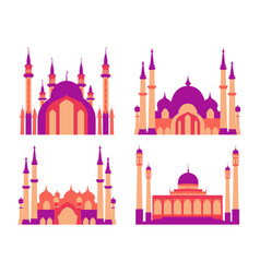 modern flat elegant islamic mosque building vector image