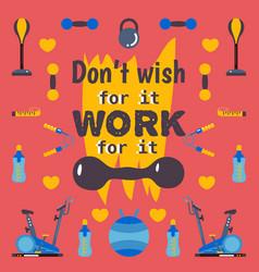 Motivational workout poster vector