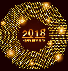 New year 2018 celebration background vector