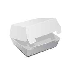 open food box packaging for burger lunch fast vector image