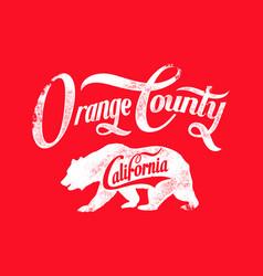Orange county vector