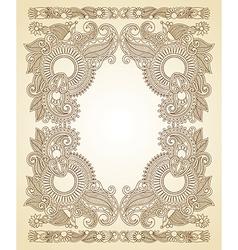 ornate floral vintage frame vector image