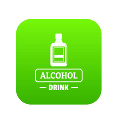 quality alcohol icon green vector image