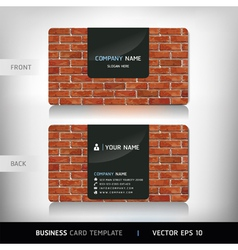 Red Brick Wall Business Card vector