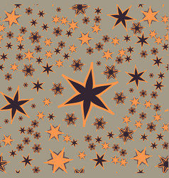 Seamless stars print vector